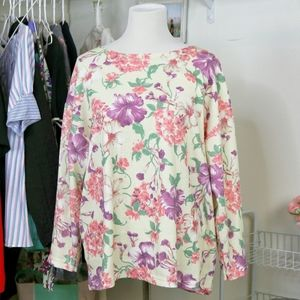 Floral Knit Stiches Long Sleeve